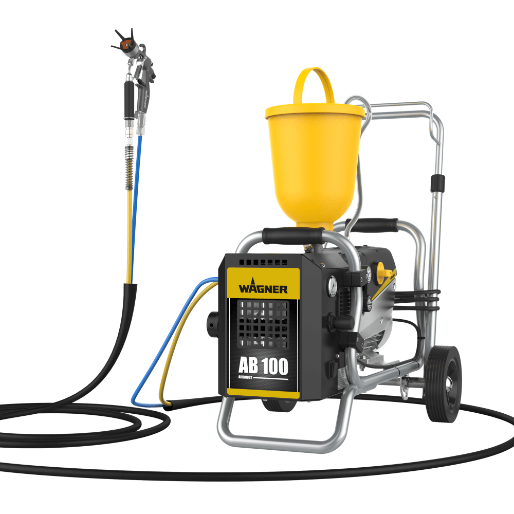 SuperFinish 23 Plus AirCoat – cart, debit material 2,6 l/min., duza max. 0.023″, motor electric 1,3 kW