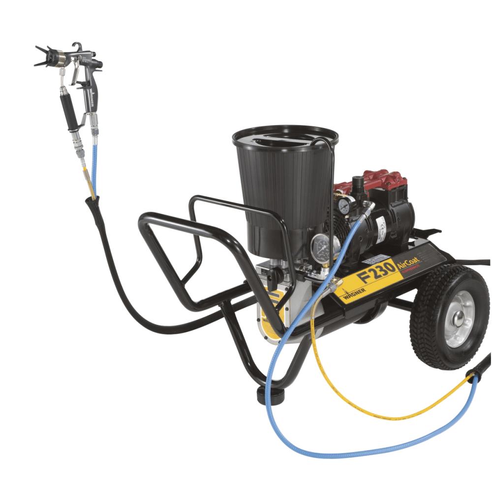 "Finish 230 AirCoat Compact Spraypack, debit material 1,2 l/min., duza max. 0,019"", motor electric 0.56 kW"