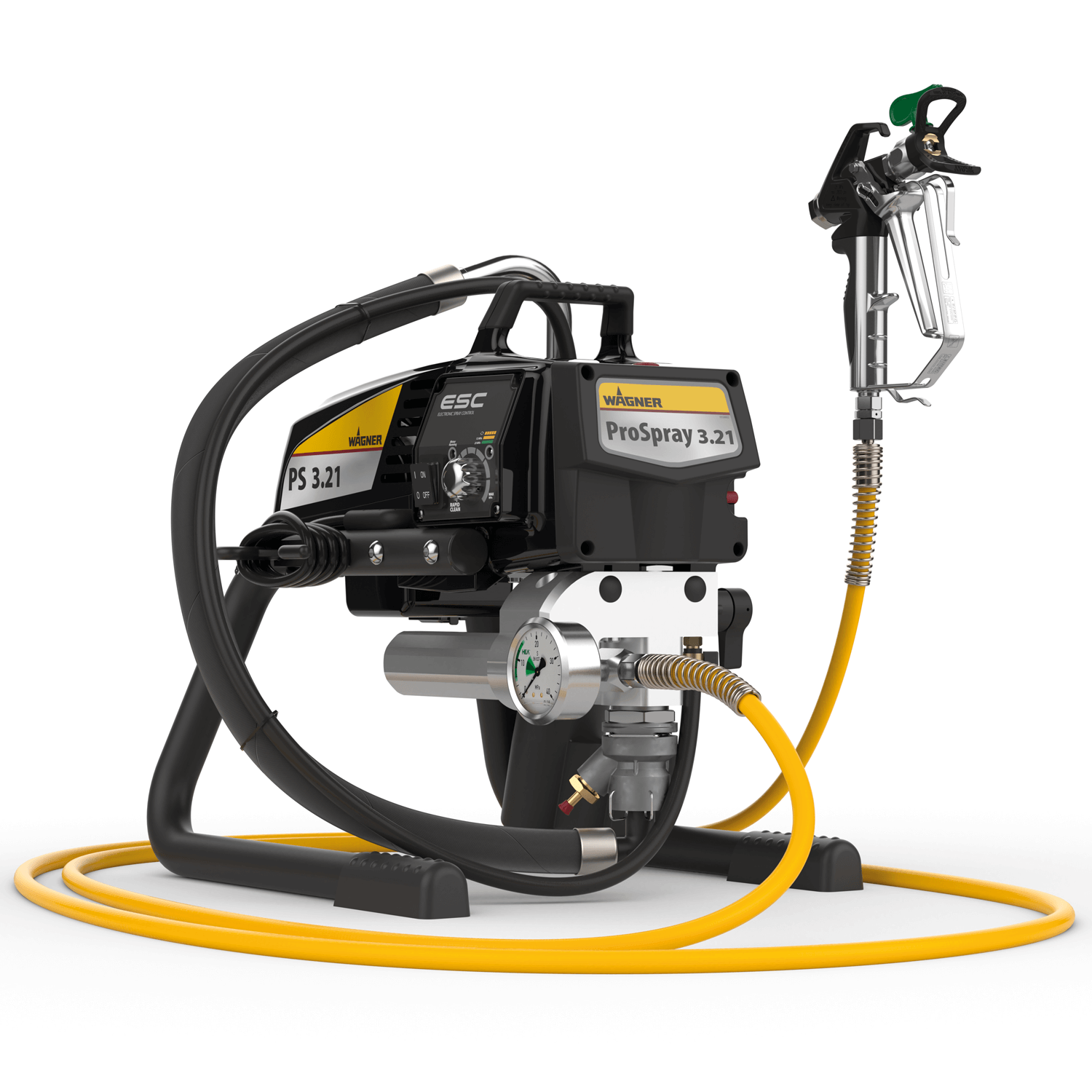 "Pro Spray 3.21 HEA Skid, debit material 2 l/min, duza max. 0,023"", motor electric 1,03 kW"